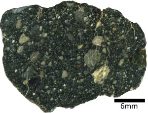 North West Africa 4472 - a lunar meteorite collected in Africa in 2006.