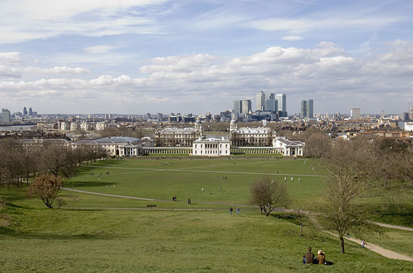 The view from the Royal Observatory, Greenwich in spring.