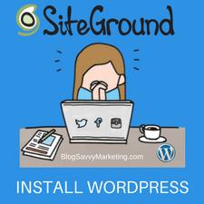 SiteGround WP Install