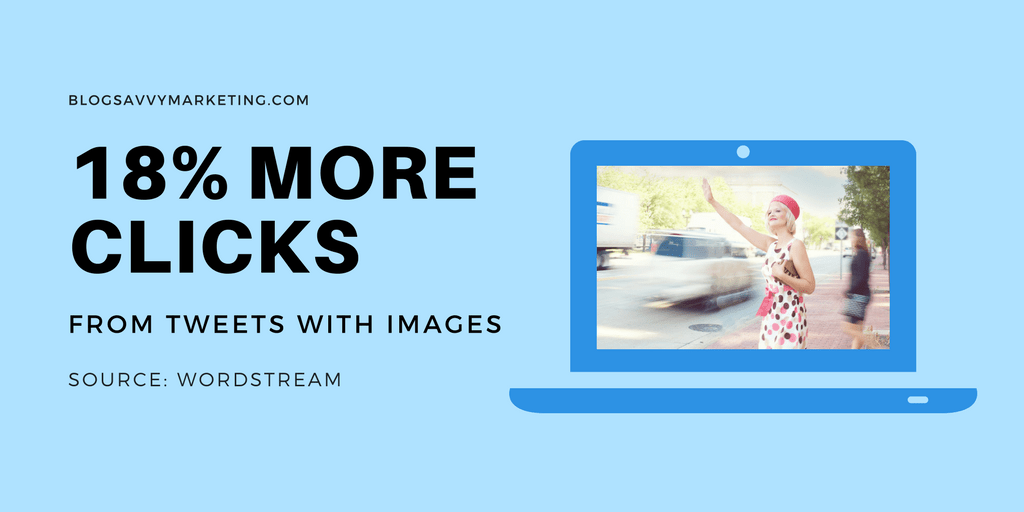 Tweets with images receive 18% more clicks than tweets without images.
