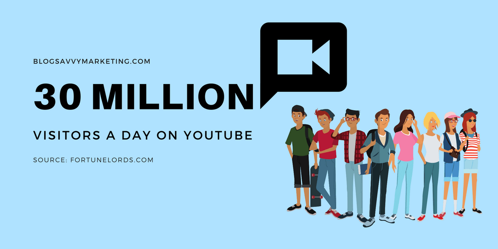 YouTube gets over 30 million visitors a day
