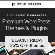 Get 25% off StudioPress Black friday