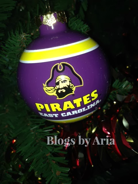 ECU Pirates Tree Ornament