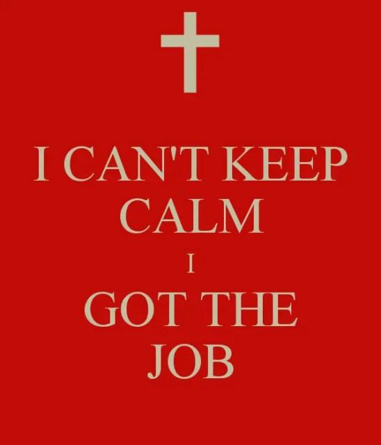 I got the job