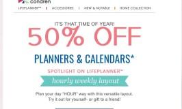 Erin Condren Life Planner Sale–Half Off!!