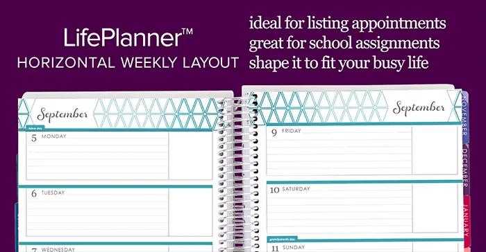 horizontal life planner