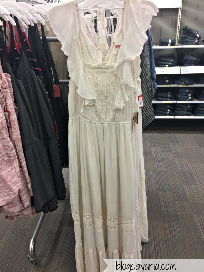 Women's Woven Ruffle Maxi Cream - Mossimo Supply Co