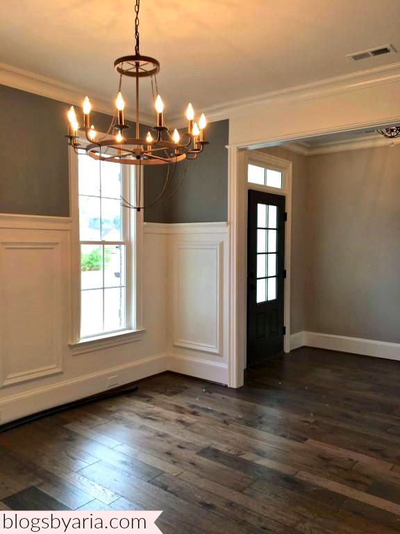 dining room with white trim work