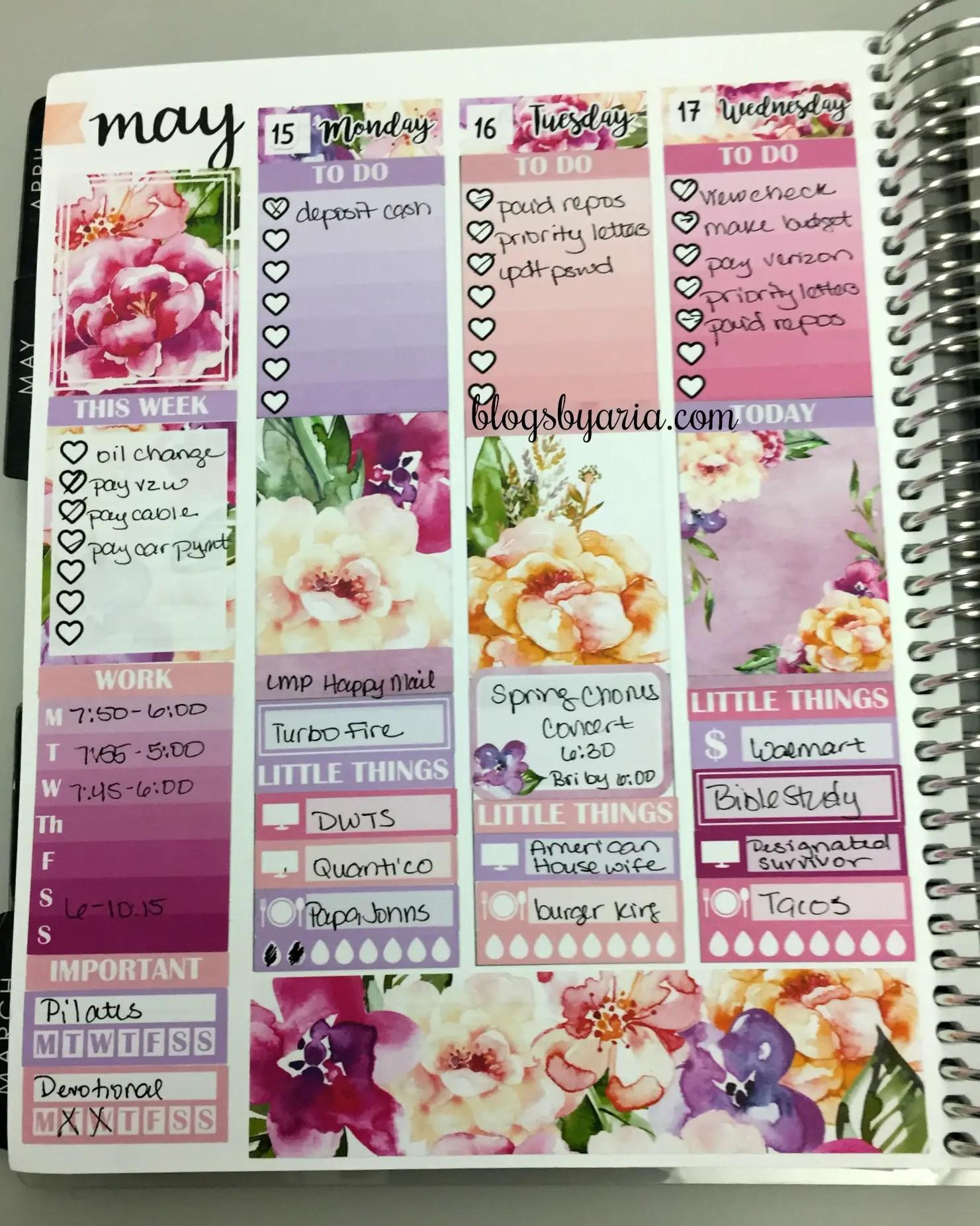 M. Crystal Prints weekly spread