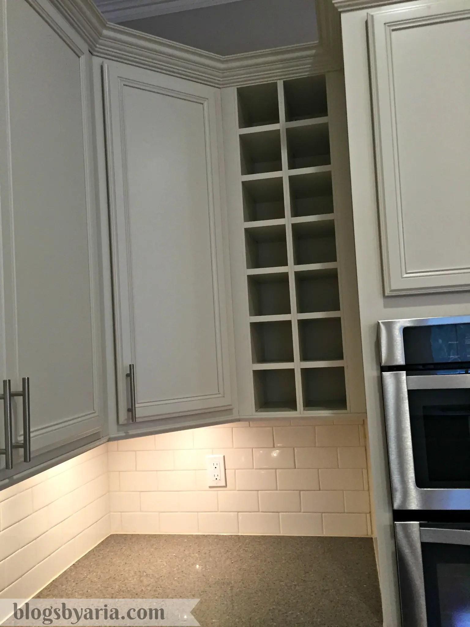 built in wine rack