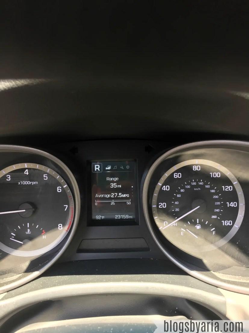 Hyundai Santa Fe Sport dashboard