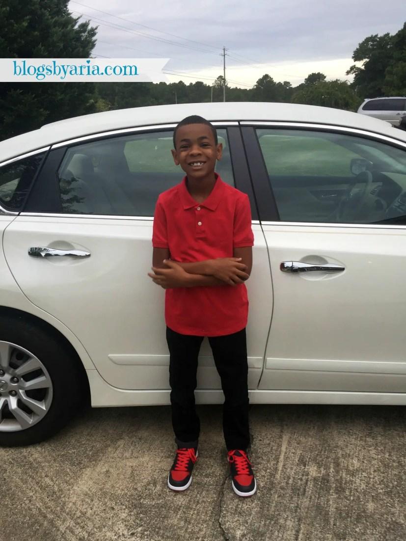 Jordan's first day of 3rd grade