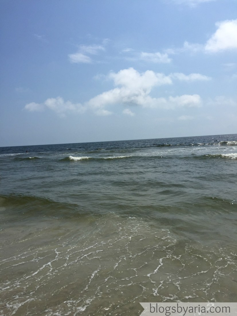 in the water at Carolina Beach