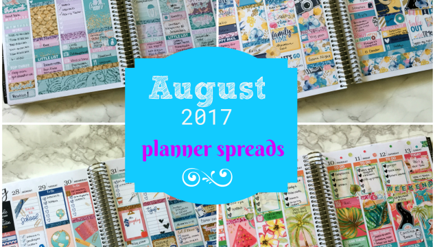 August Planner Spreads Round-Up