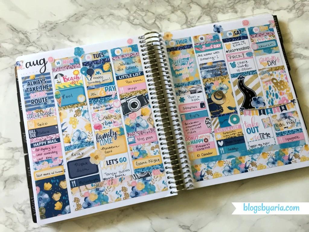 Little Miss Paperie Destination weekly planner spread