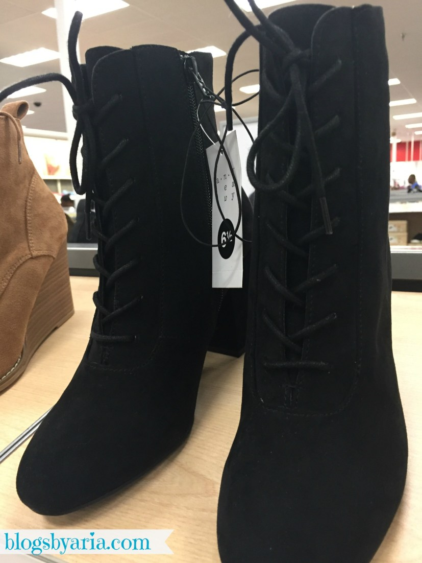 Black Lace Up Booties at Target