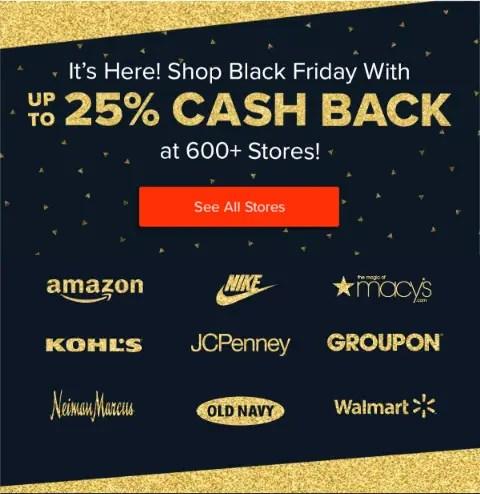 Shop Black Friday with Ebates