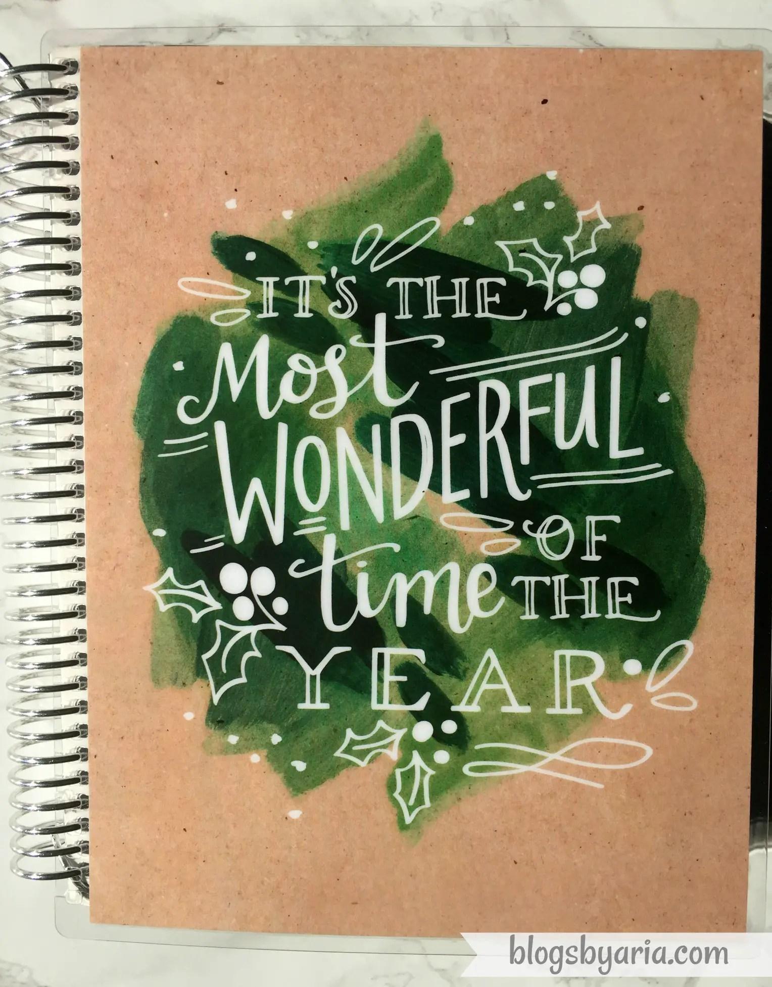 Erin Condren Watercolor Wreath Planner Cover