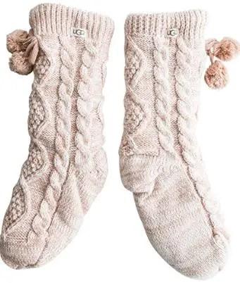 UGG Pom Fleece Lined Socks