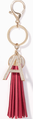 Loft Initial Tassel key chain Hostess Gift Idea