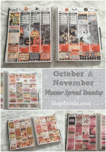 October and November Planner Spreads Roundup