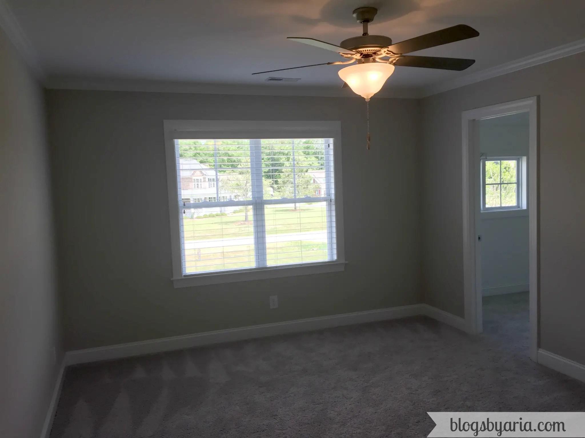 small bedroom with huge walk-in closet
