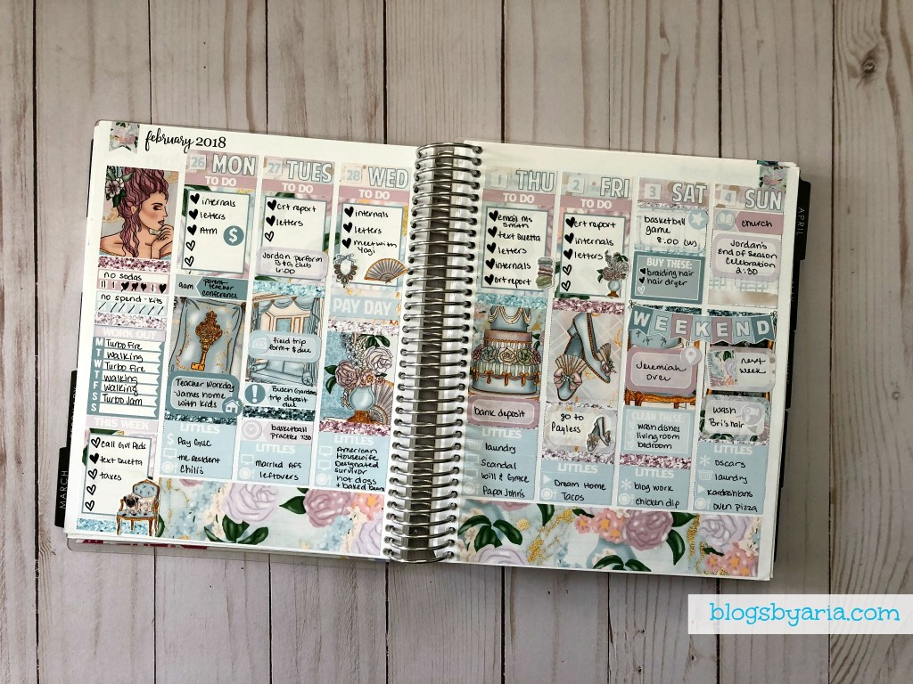Glamplanning in my Life Planner