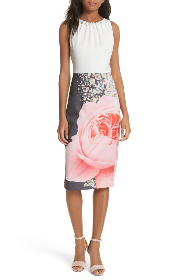Ted Baker Blenheim Palace Embellished Body-Con Dress
