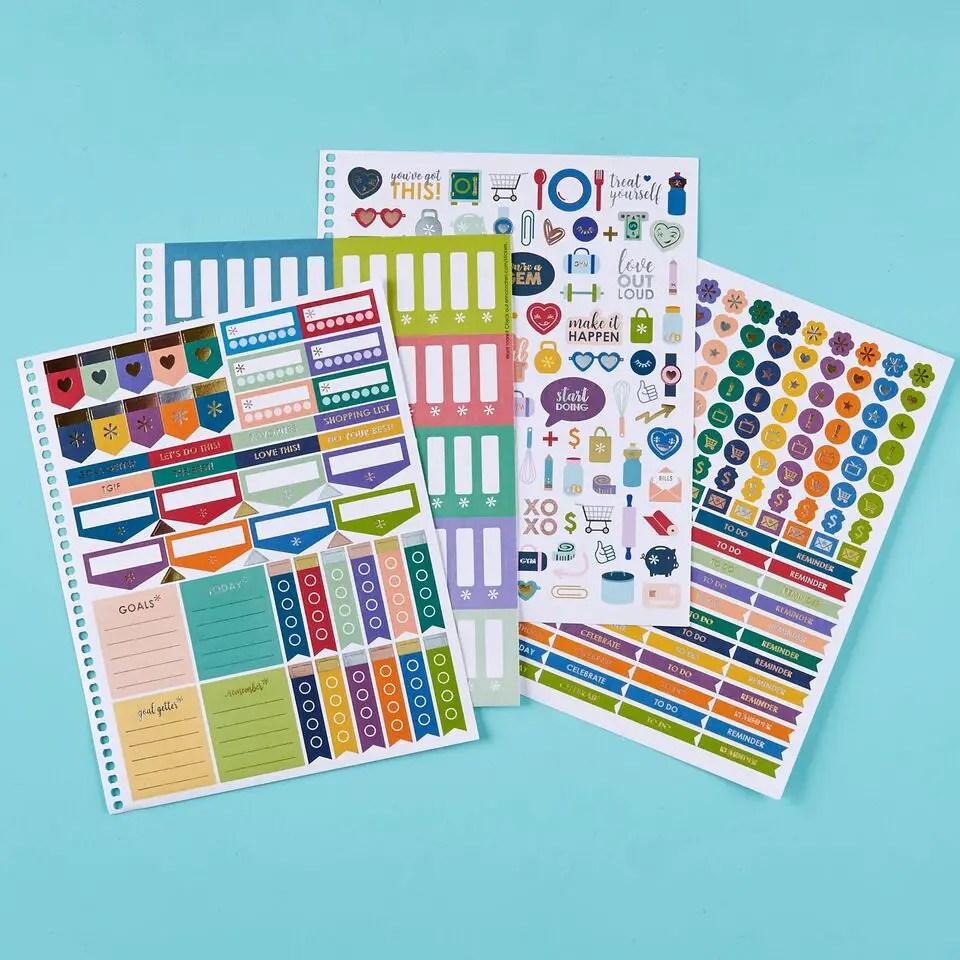 new stickers in the Erin Condren Life Planner #planning #plannergirl