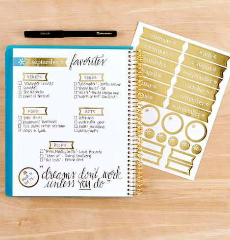 Erin Condren Metallic Sticker Pack