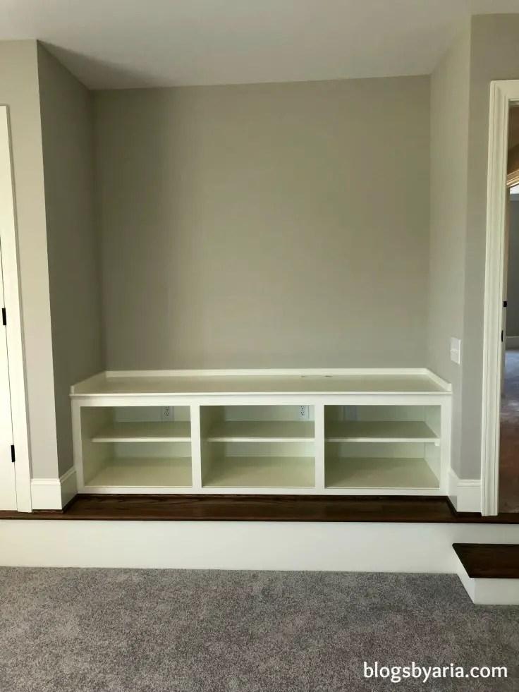 bonus room media storage built-ins perfect for #mancave