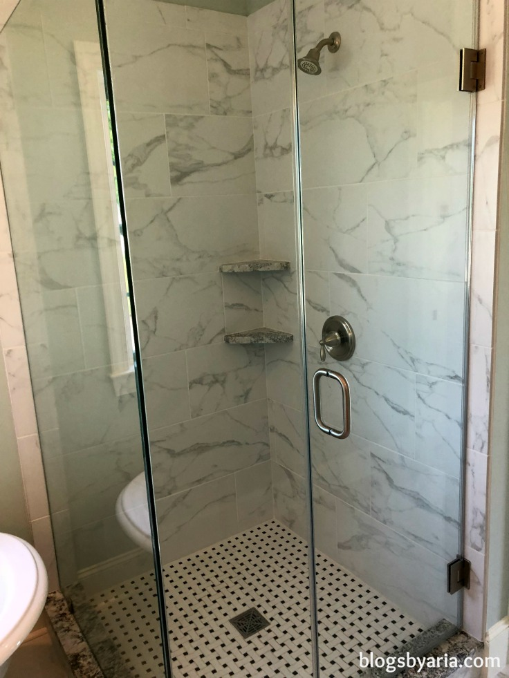 #marbletile shower