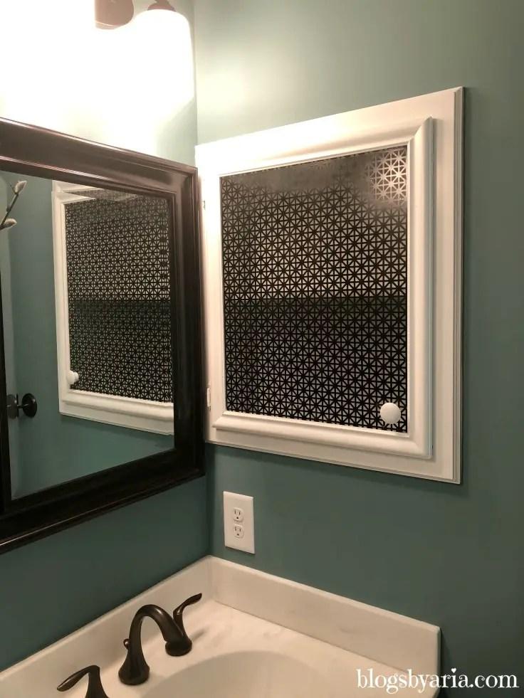 medicine cabinet decor idea