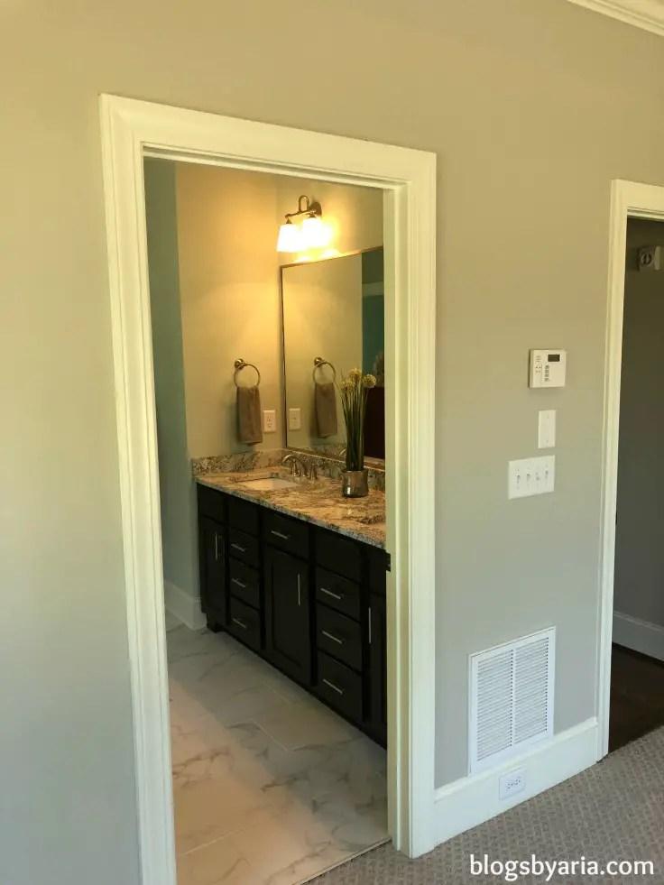 master bedroom looking into master bathroom