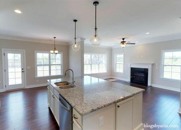 eat in kitchen open to family room