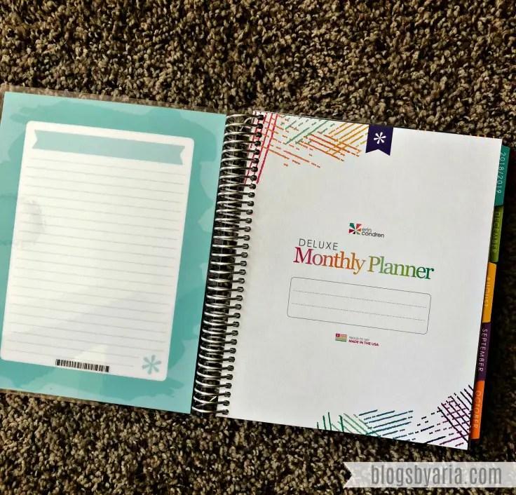 Erin Condren Deluxe Monthly Planner
