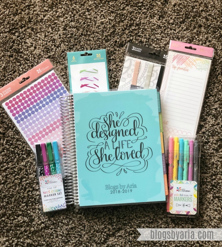 Erin Condren Deluxe Monthly Planner Haul and Review