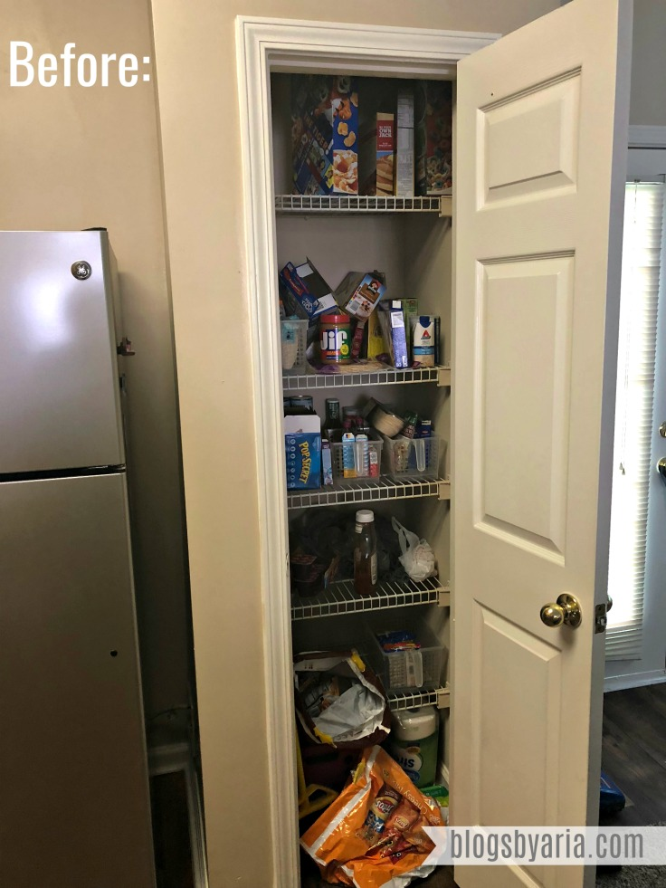 Simple Pantry Organization The Before