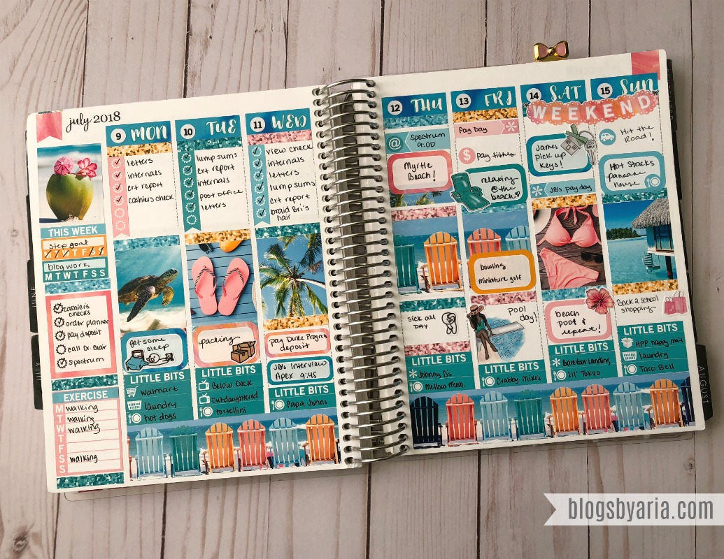 the perfect vacation weekly planner spread