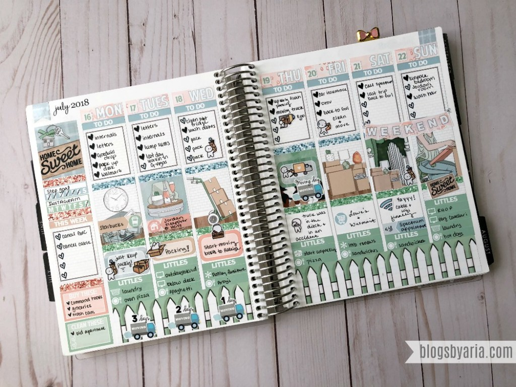 planning with planner stickers