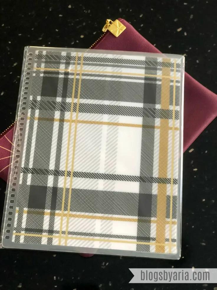 Erin Condren Exclusive Metallic Foil Plaid Interchangeable Cover #ECSurpriseBox