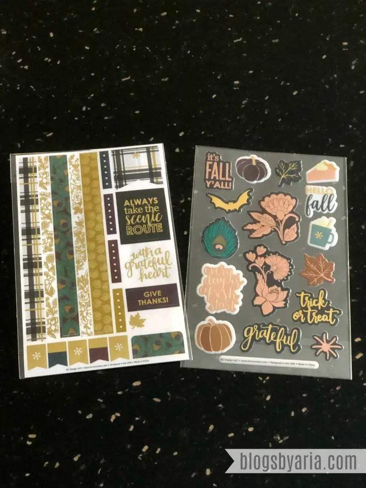 Erin Condren Fall Seasonal Surprise Box Stickers