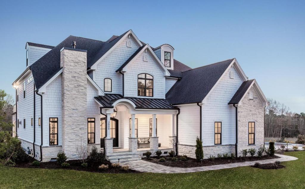 large transitional style house