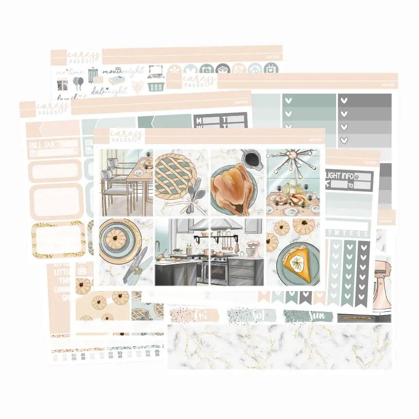 Caress Press Gather Planner Sticker Kit