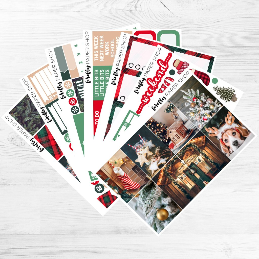 Firefly Paper Shop Home for Christmas weekly planner kit
