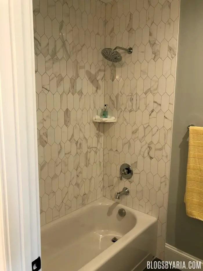 love the shower tile very unique