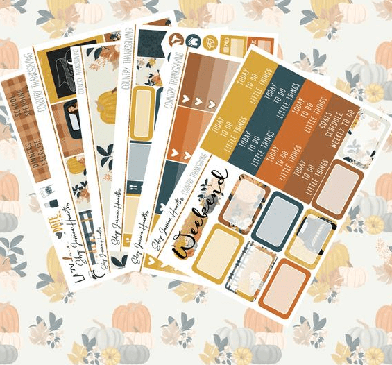 Shop Jessica Hearts Country Thanksgiving Weekly Planner Kit