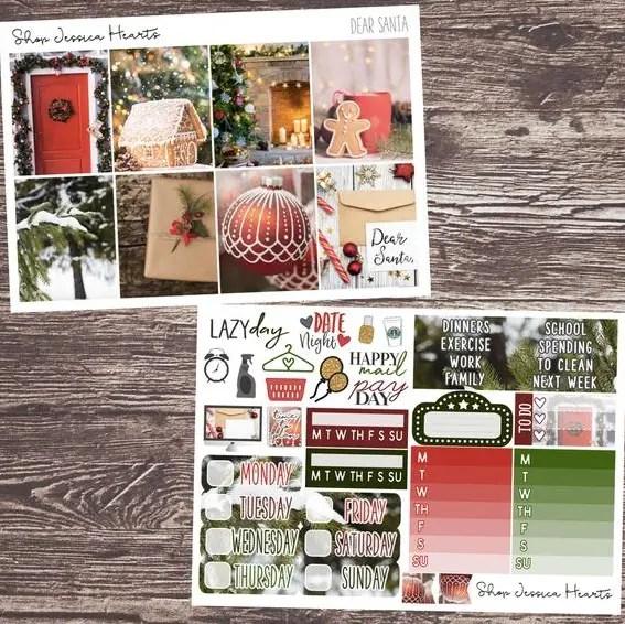 Shop Jessica Hearts Dear Santa Weekly Planner Kit