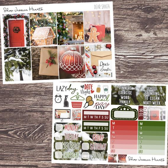 Shop Jessica Hearts Dear Santa Weekly Planner Kit