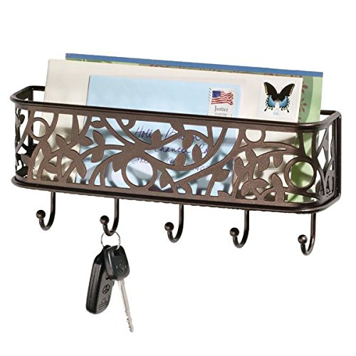 letter holder and key rack organizer for entryway